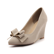 fashion charming design bowtie wedge heel women shoes