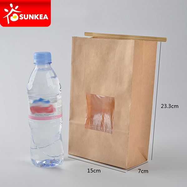 Tin foil tied dough kraft paper bag for dough store
