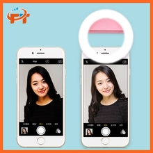 Selfie LED Camera Ring Flash Fill Light For IPhone Mobile Phone FT-02