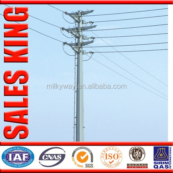 Cheapest Tapered wiremold power pole 35 ft for Philippines