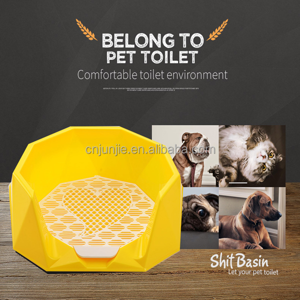 Hot Sales Plastic Training Pet Loo Potty Patch Indoor Dog Pet Tray Plastic Flat Portable Toilet For Male Dog Sale