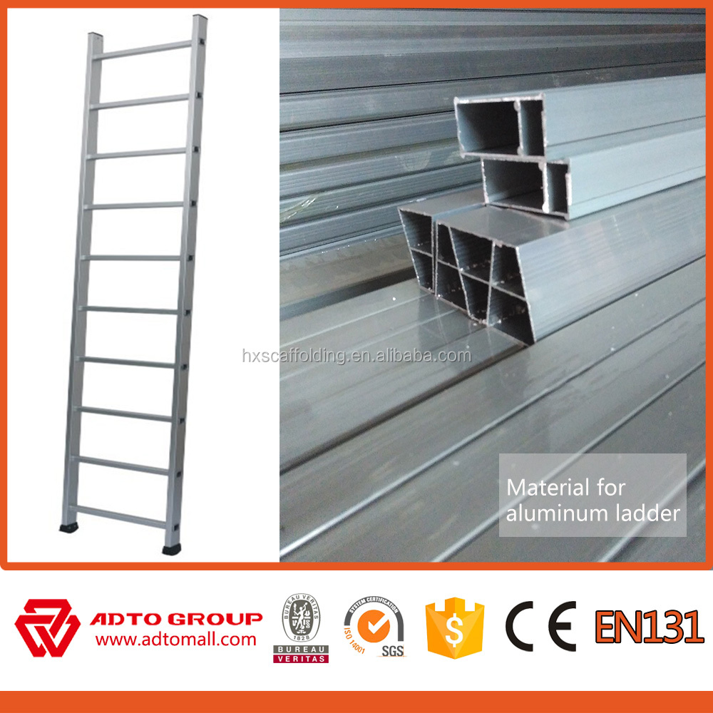 Aluminum straight ladder,construction ladder,scaffolding ladder clamp