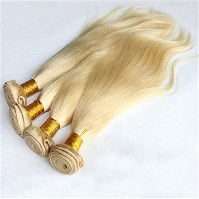 Top quality blonde color human hair extensions machine sew in human hair weft grade 5a 6a 7a 8a malaysian hair