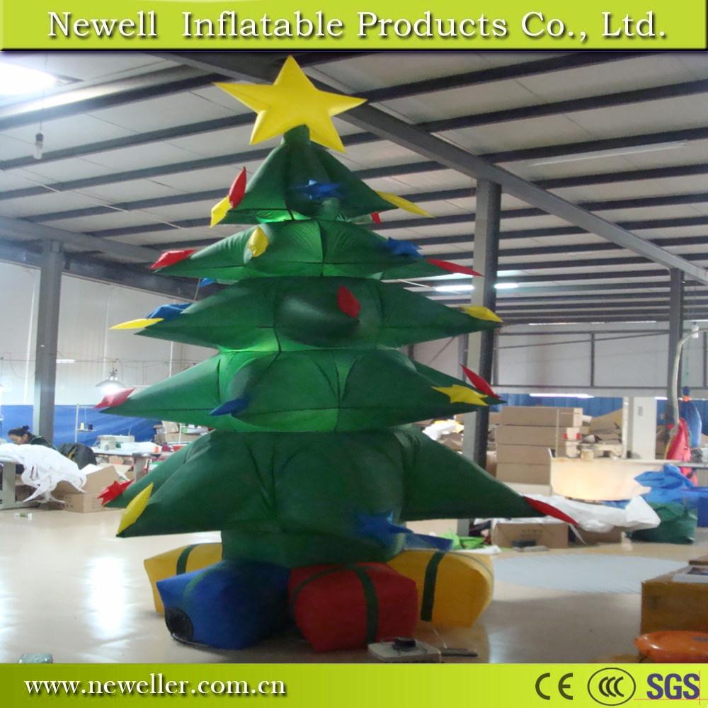 Hot sale fluorescent christmas tree for pub