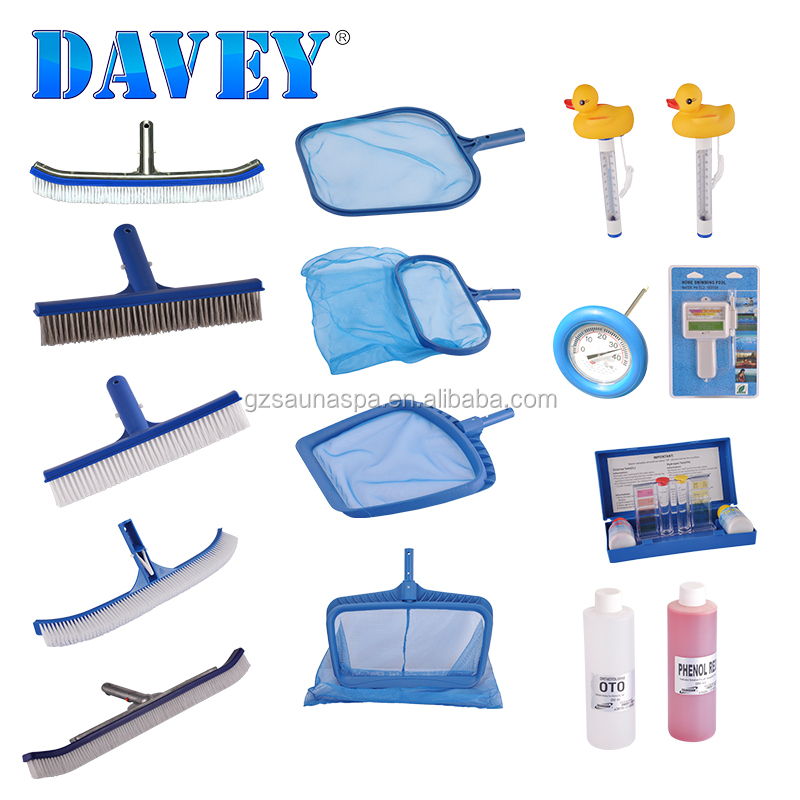 Swimming pool accessories leaf skimmers/wall brushes/cartoon floating  thermometers/ph test kit, View swimming pool water test kit, DAVEY Product  ...