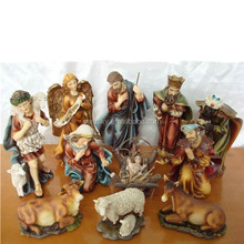 Polyresin hand painting native american nativity sets for Chrismas