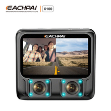 EACHPAI X100 Dash Cam Dual 1080P Night Vision Black Box DVR Car Camera WiFi GPS dashcam for uber lyft taxi drivers