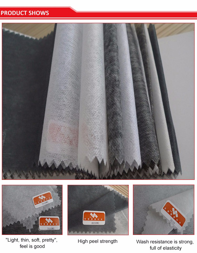 Wholesale Fusible Interfacing Garment Accessory Inner Lining Manufacturer