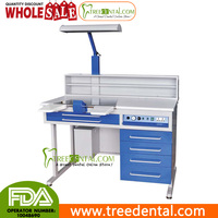 AX-JT4 110V Euro Plug Dental Workstation Single Person Laboratory Equipments Built-in-Vacuum ,1.2M Length,dental lab table unit