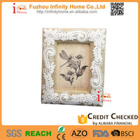 Promotional funny cardboard paper photo frame with fabric decor