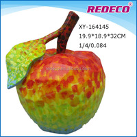 Hot sale large red resin apple ornaments for home decor