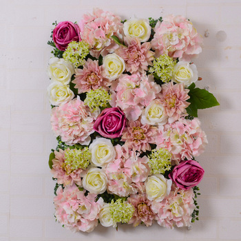 Hot sell wedding artificial flower Rayon wall Rose Flower Wall for wedding decoration
