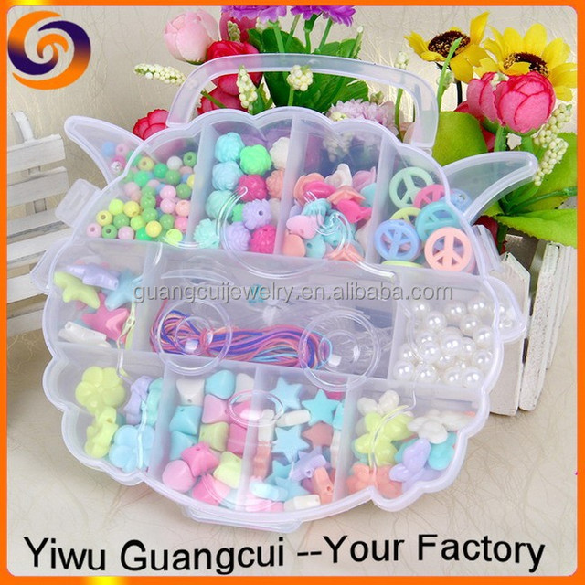 2015 New plastic animal head box diy beads set