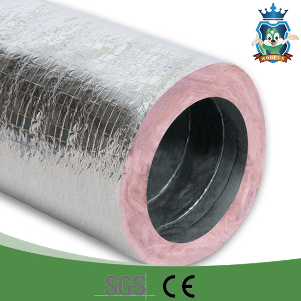Fireproof 20 Hvac Duct Insulation Wrap Aluminum Foil Stretchable Easy Installation