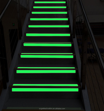 Glow in Dark Photoluminescent Vinyl Safety Signs for Stairs