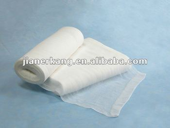 open and plain gauze roll