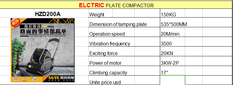 new arrival FACTORY PRICE New type electric plate compactor