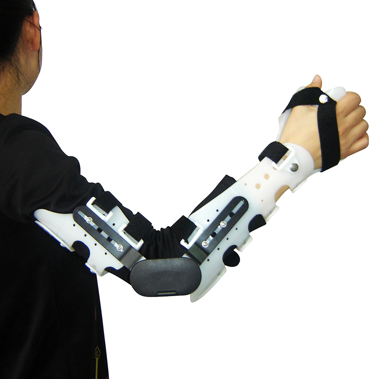 Medical Arm Brace Angle Adjustable Hinged Elbow Brace For Forearm Fracture Dislocation And Soft Tissue Damage
