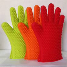 Microwave Oven Use Silicone Hand Gloves BBQ Glove Nomex Oven Gloves