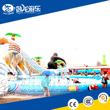 largest inflatable water slide, water playground equipment