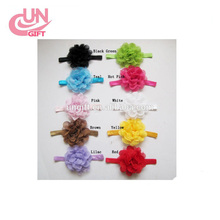 hair elastic bands ribbon bows kids infant baby girls head wraps accessory headbands satin flower hairband headwrap