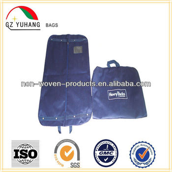 Polyester non woven storage garment bag cover wedding dress with PVC Window