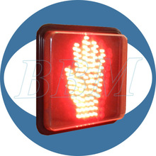 8'' high quality red hand stop traffic signal