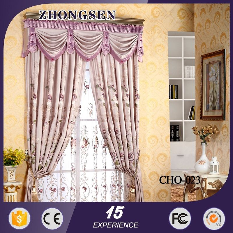 2015 hot sale 100% polyester blackout arabic curtain design in 2013