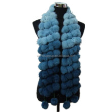 Fashion Rabbit Fur Ball Scarf