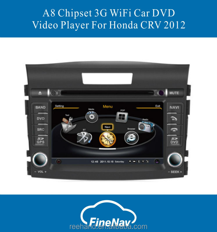 A8 Chipset 3G WiFi Car DVD Video Player For Honda CRV 2012 With GPS Radio Bluetooth Dual-Core CPU 1GMHZ Free Map
