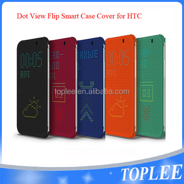 Ultra Slim Dot View Flip Case for HTC M8/M9/M9+/E9+/E8/820/Eye/626/820/ME/BF2All