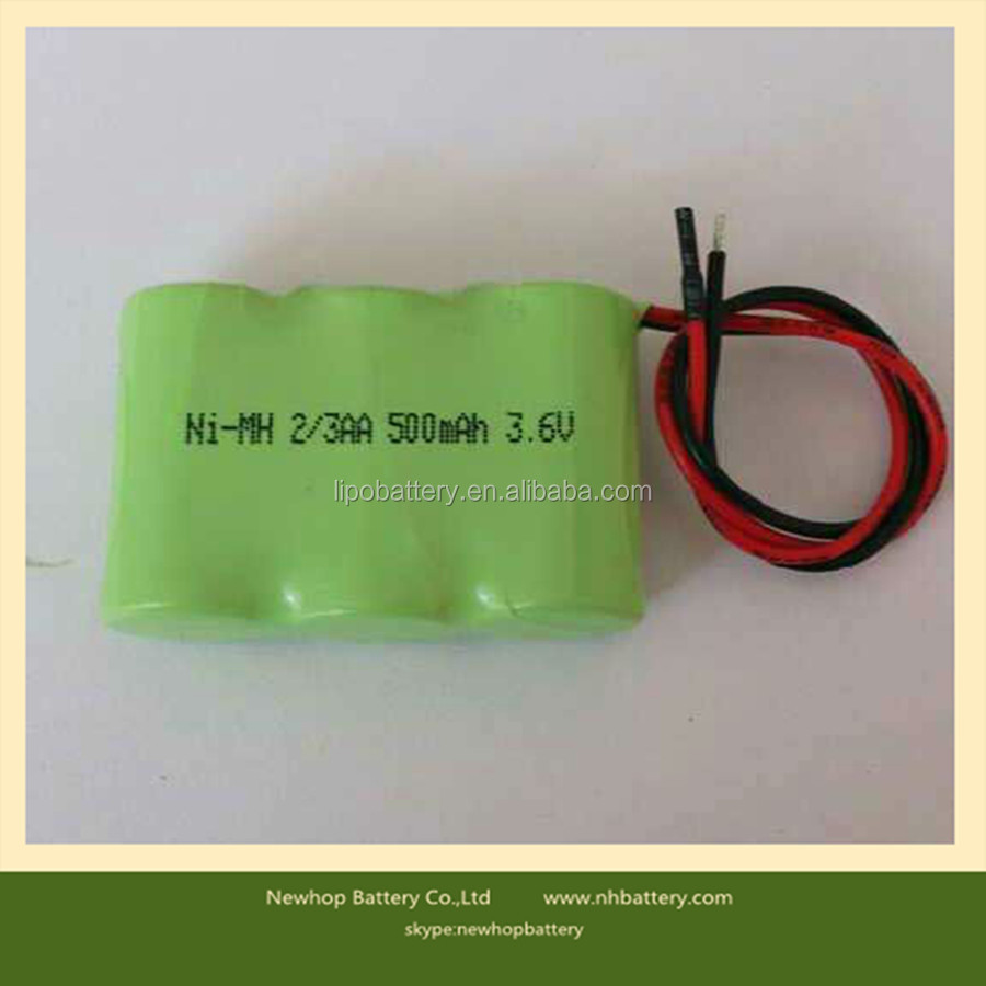 Cheap price ni-mh 3.6v 2/3aa rechargeable nimh battery pack for solar light