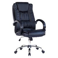 Office Chair Black High Back Computer Desk Furniture Executive Leather Home