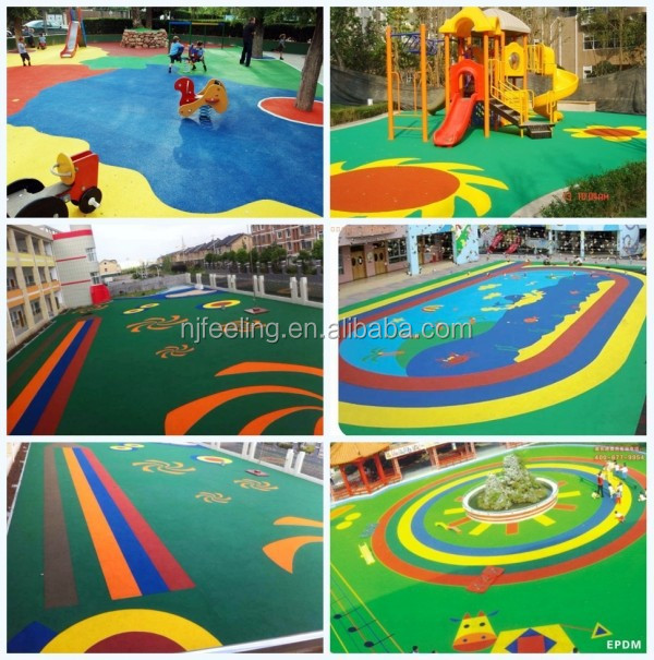 Colored EPDM Rubber Chips Mulch For Playground -R-I-603