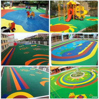 Colored EPDM Rubber Chips Mulch For
