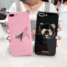 Whale Design Anti Drop Mirror Makeup Beauty Phone Case For iPhone 8 Rugged Shockproof Mobile case
