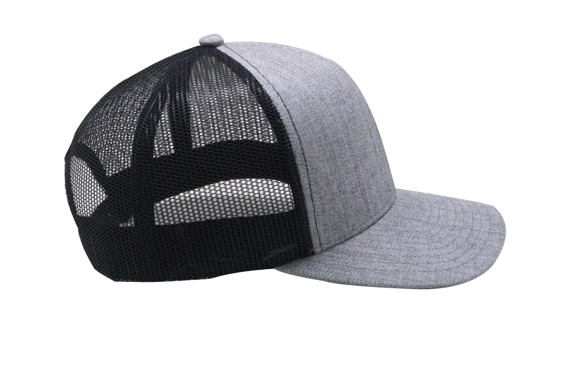Factory wholesale Grey High Quality Custom Blank Promotional Trucker oem Hat