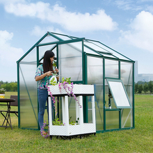 Aluminum Frame Polycarbonate Covering Garden Greenhouse For Sale