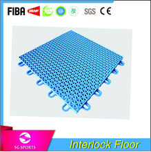 pvc plastic interlocking flooring tiles for playgroud of basketball/badminton/volleyball
