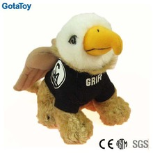 High quality custom stuffed soft plush griffin toy animal with t-shirt