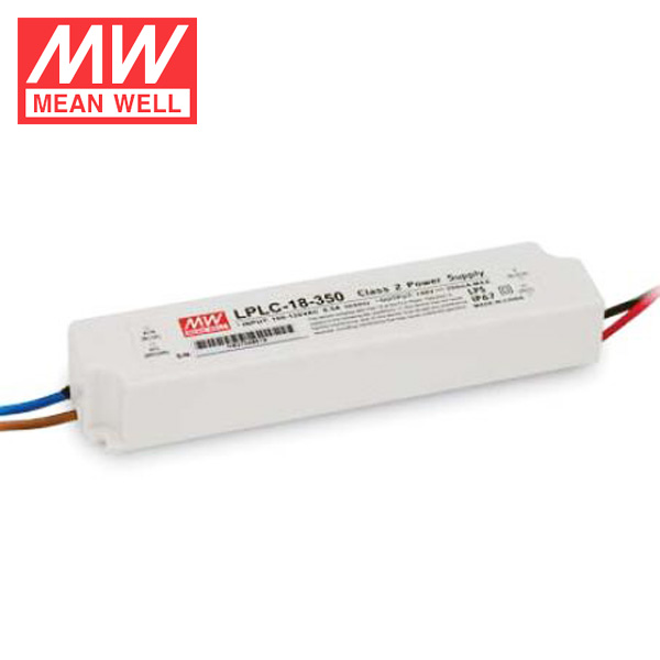 MEAN WELL 18W Single Output LPLC-18-350 Class 2 IP67 24V 350mA Power Supply