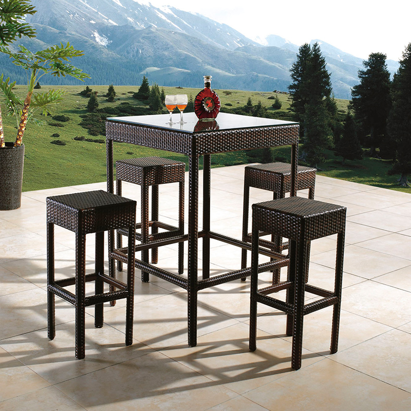 cheap outdoor used bar furniture 4 stools sets