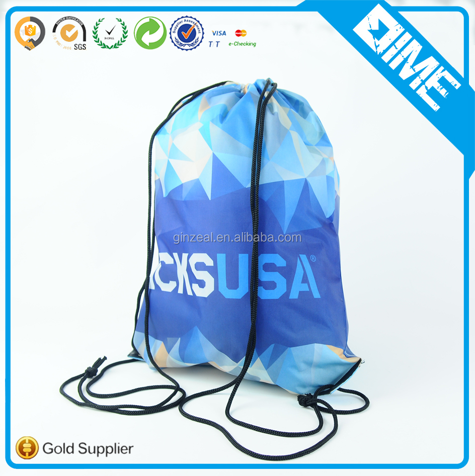 Newly Arrived Polyester Foldable Shopping Drawstring Bag