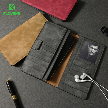 FLOVEME Brand New Arrival Leather Phone Case For Iphone 6Plus Case,For iPhone 7plus Cases With Credit Card Slot