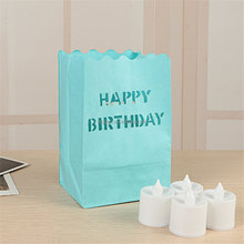 Fireproof Paper Luminary Tea Light Candle Paper Bag