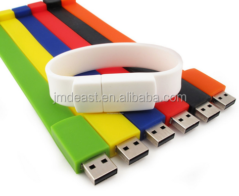 silicone bracelet usb flash drive wrist band hand band usb flash drive hot selling