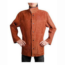AW7130 Coffee Leather Welding Jacket