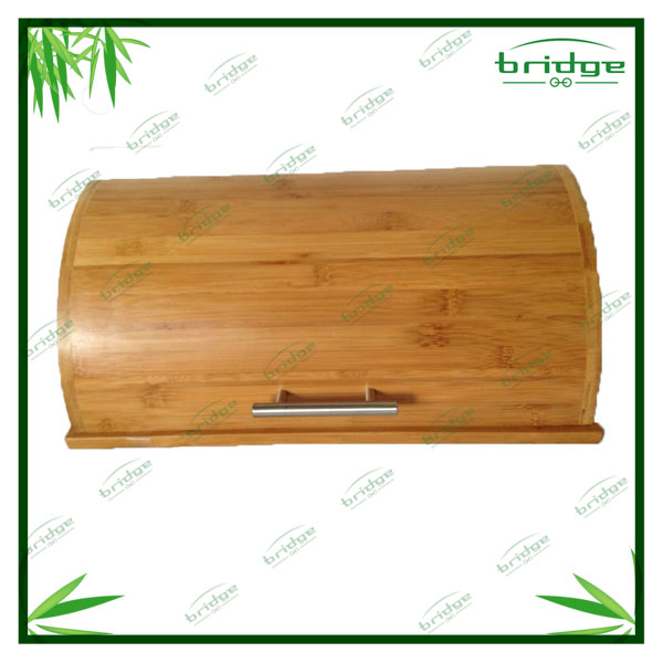 hot sale natural bamboo wooden kitchen bread box