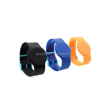wholesale high quality Adjustable Eco-friendly rfid silicone NFC wristband/disposable woven nfc bracelet