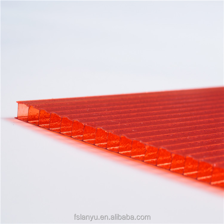 Colored polycarbonate sheet poly carbonate sheets 10mm Twin Wall polycarbonate hollow sheet